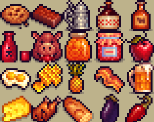 free pixel food! by henry software