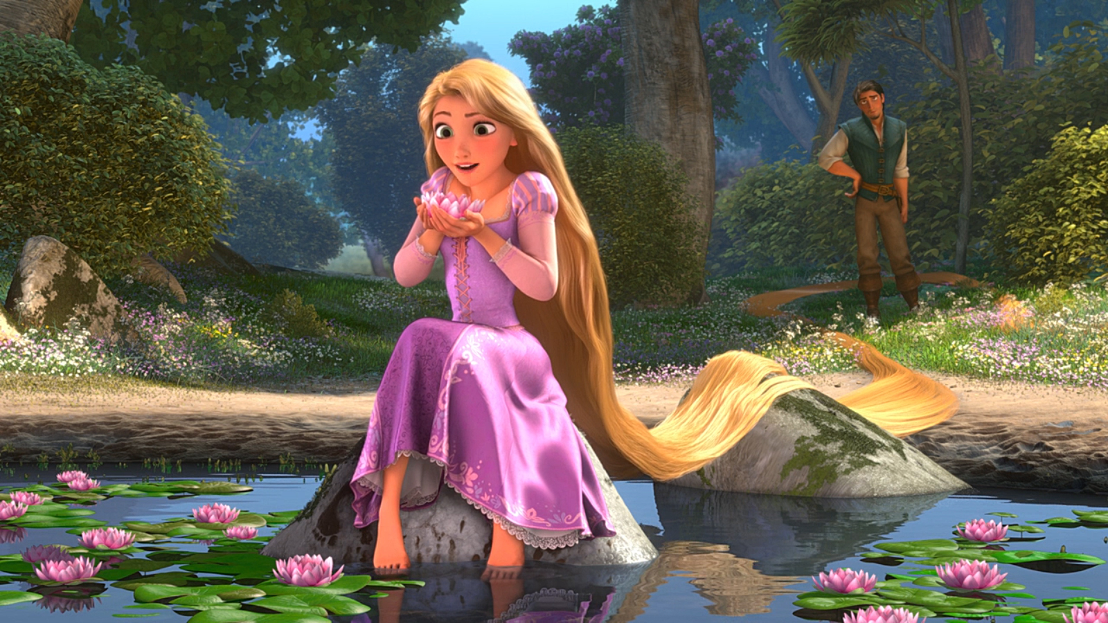 Tangled- Rapunzels car flies.