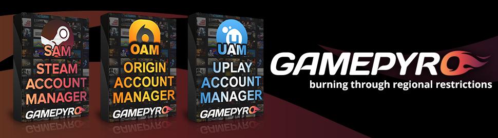 Steam Account Manager - GamePyro.com