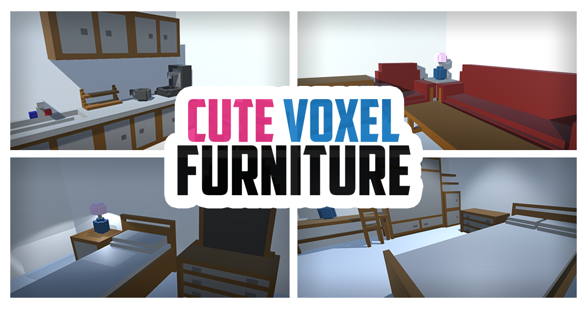 [FREE] Cute Voxel Furniture for Unity