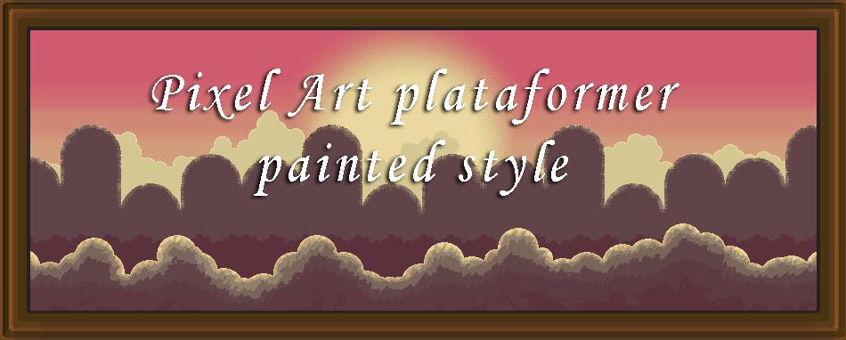 Pixel Art Plataformer Painted Style