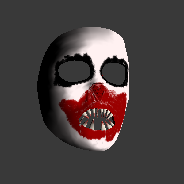 Horror Clown 3D Mask