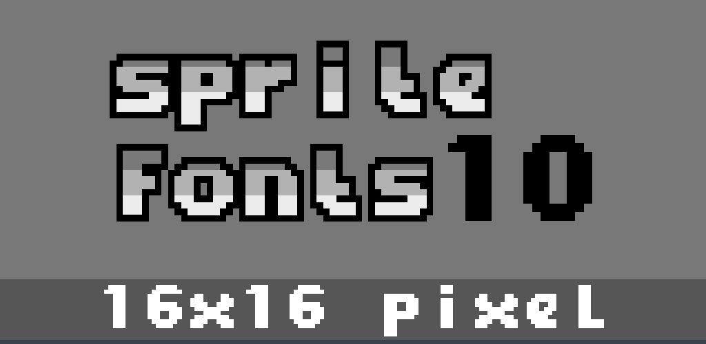 16x16 Pixel Font 10