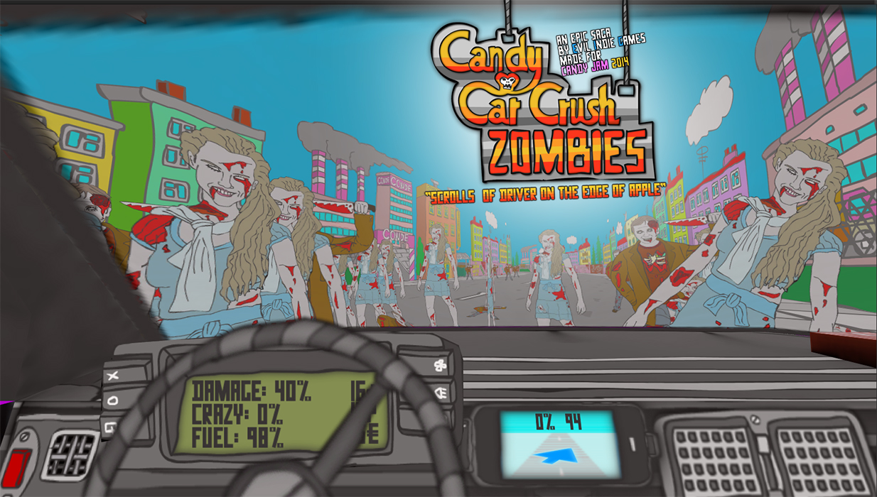Candy Car Crush 3D : Zombies by Evil Indie Games