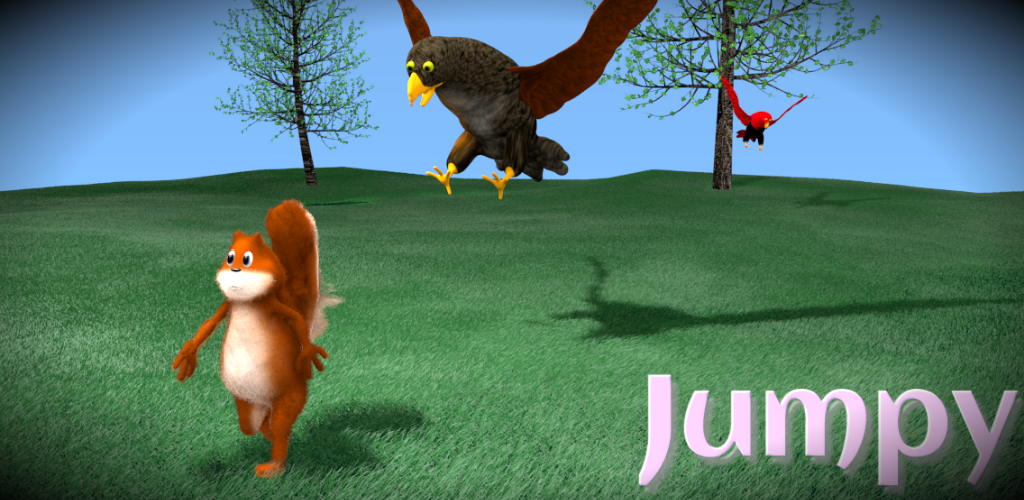 Jumpy the squirrel