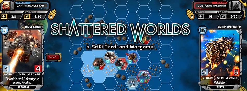 Shattered Worlds - SciFi Card & Wargame