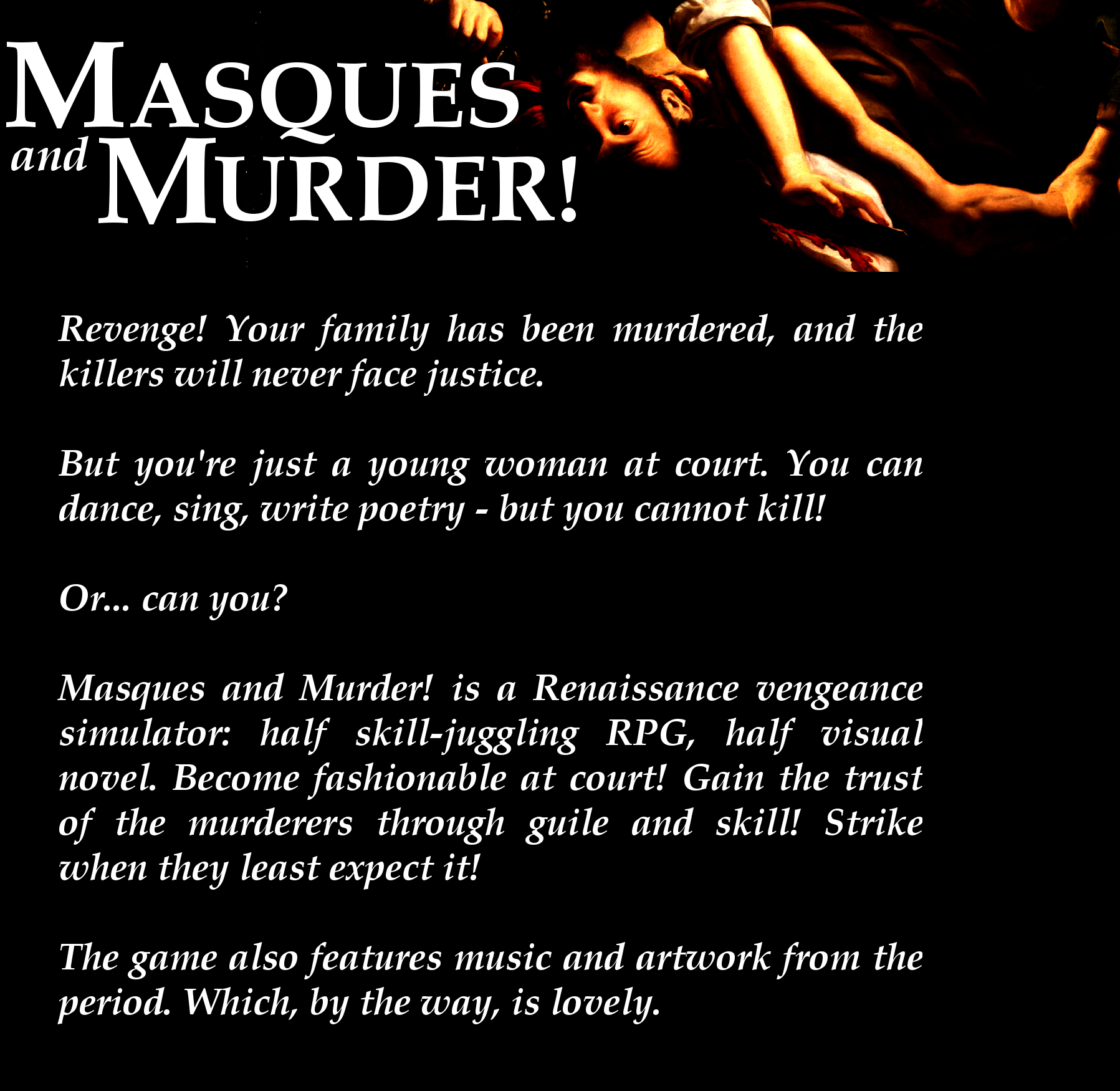 Masques and Murder!