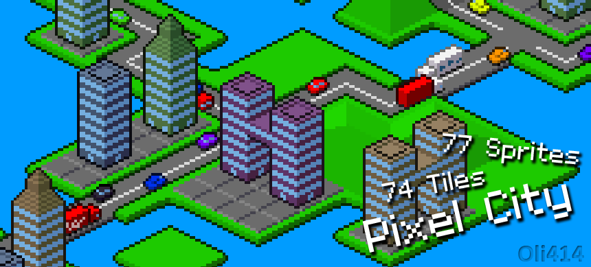 Pixel City - Isometric Pixelart Graphics