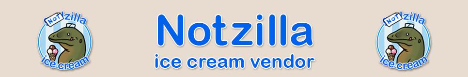 NotZilla Ice Cream Vendor