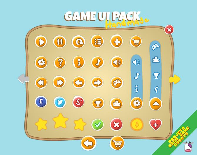 Game UI Pack - Handmade Edition