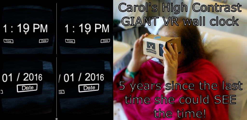 Carols High Contrast Giant VR Wall Clock