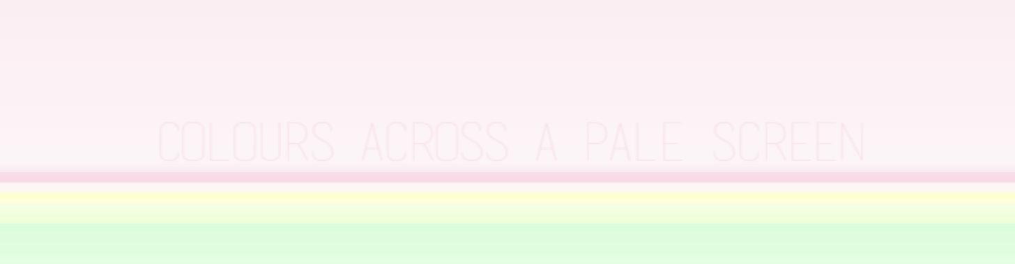 colors across a pale screen