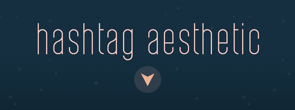 hashtag aesthetic