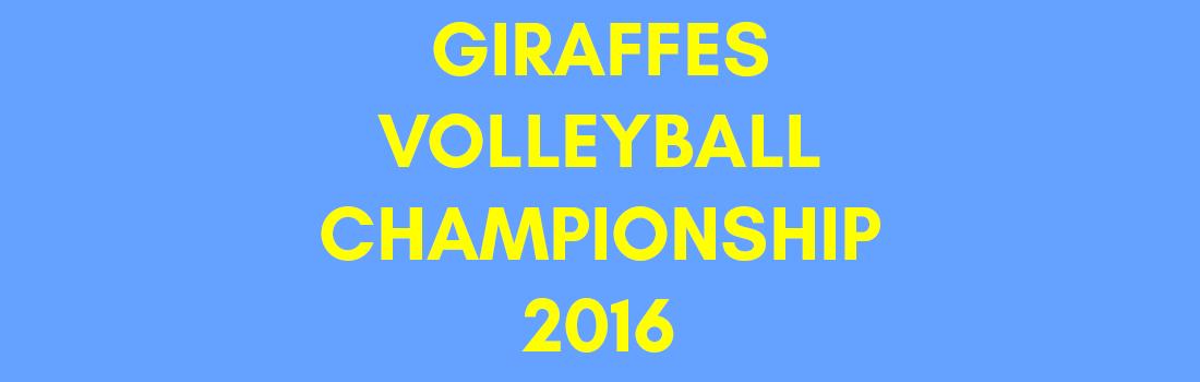 Giraffes Volleyball Championship 2016