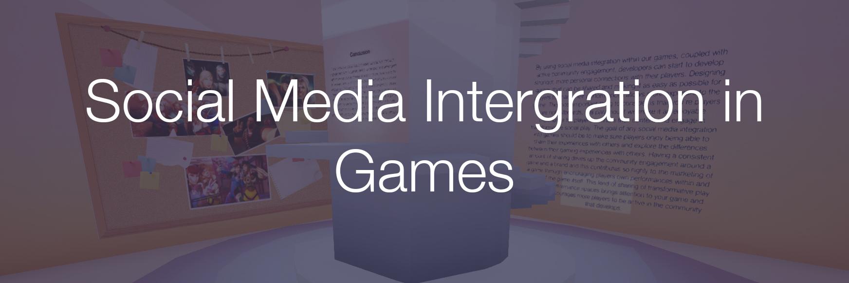 -Tech Demo- Social Media Integration in Games