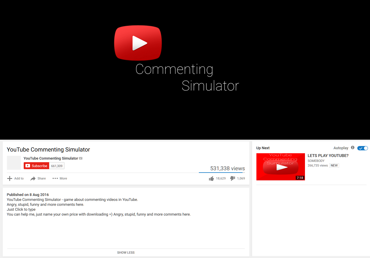 YouTube Commenting Simulator