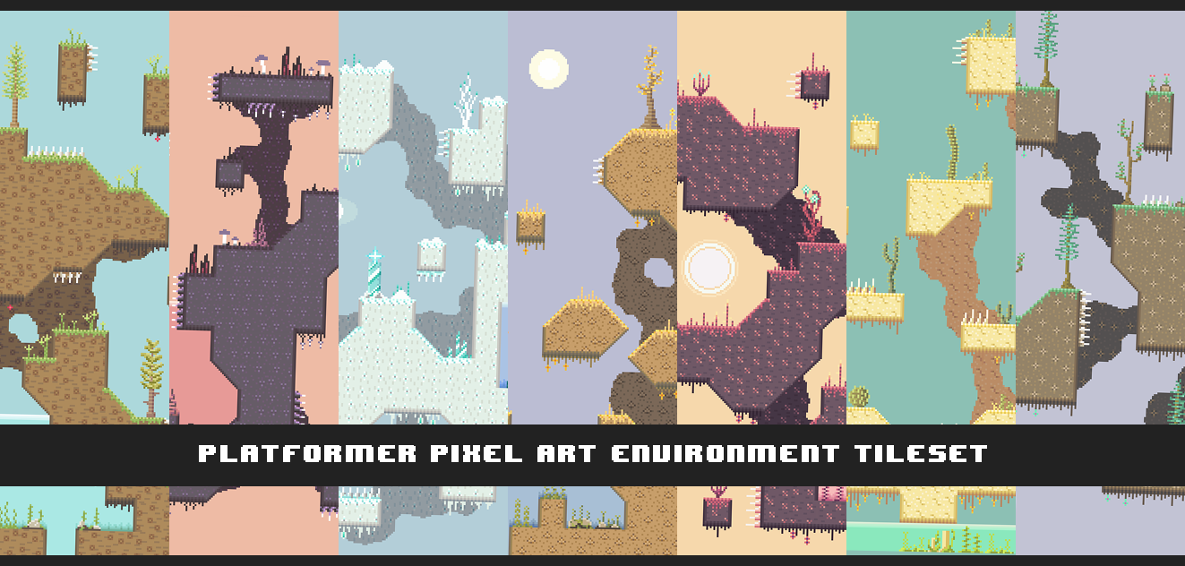 Pixel Art Environment Tileset for Platformers