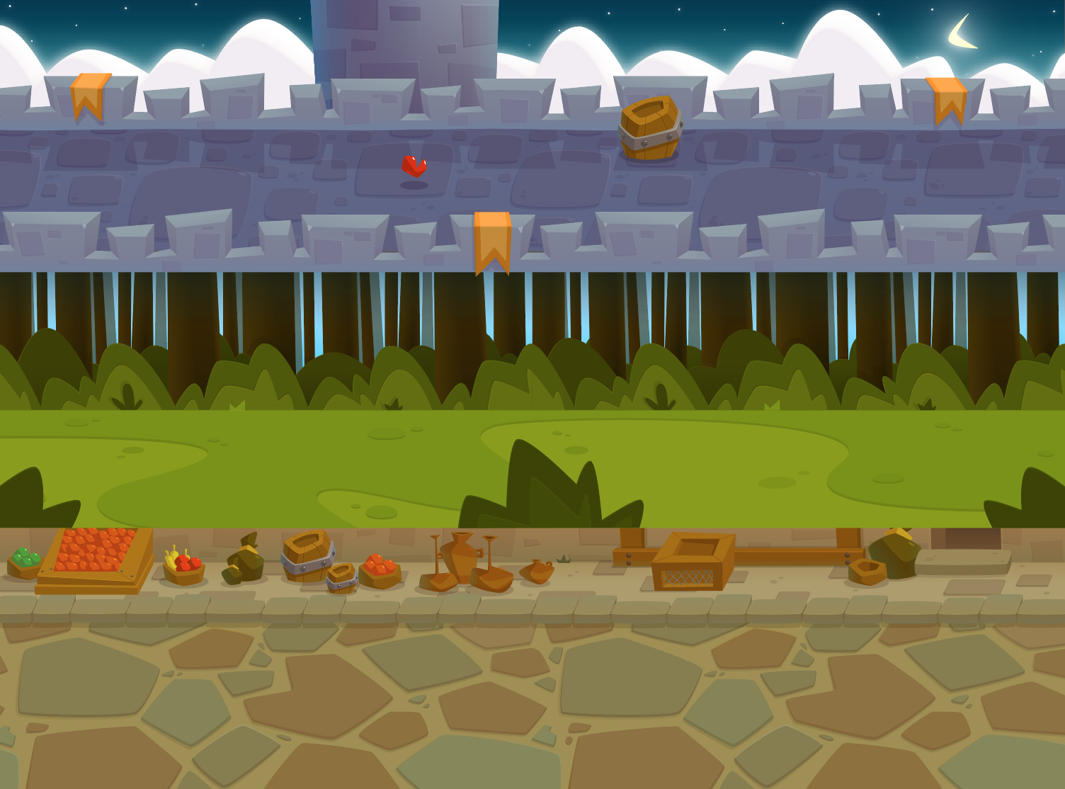 3 Side Scrolling RPG Backgrounds