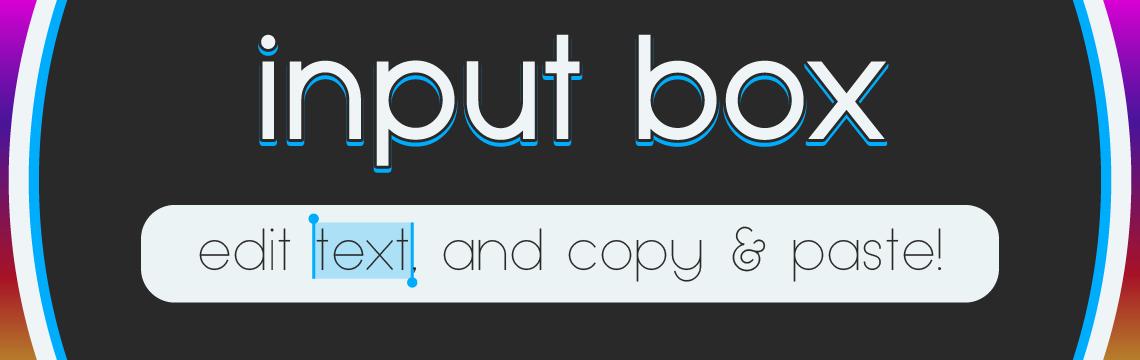 Input Box
