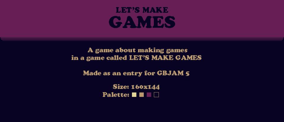 Let's Make Games