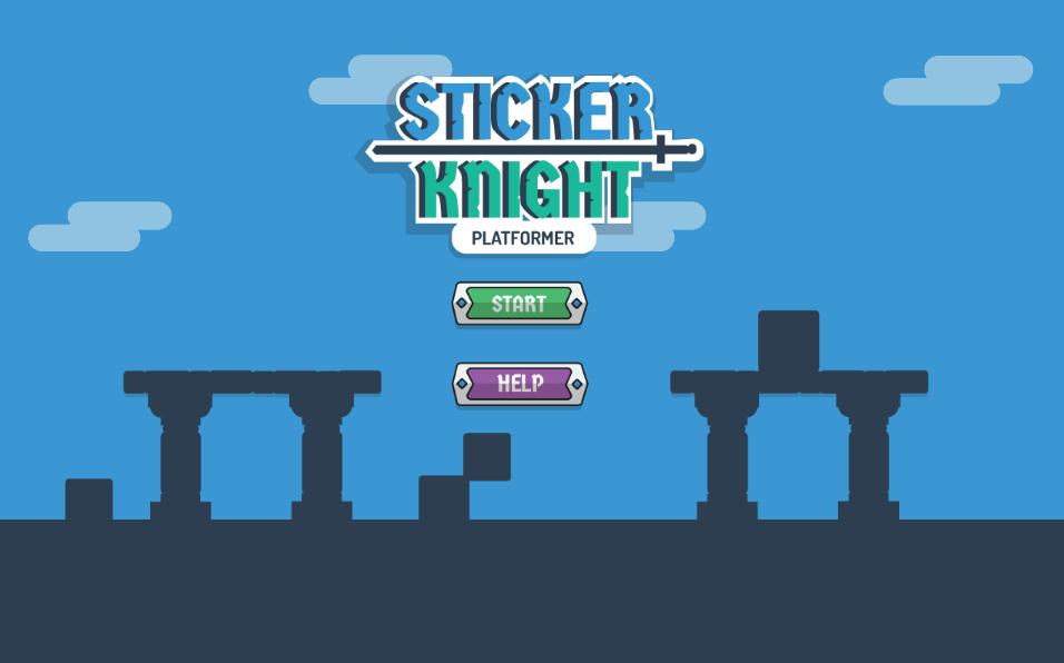 Sticker Knight Platformer by Ponywolf