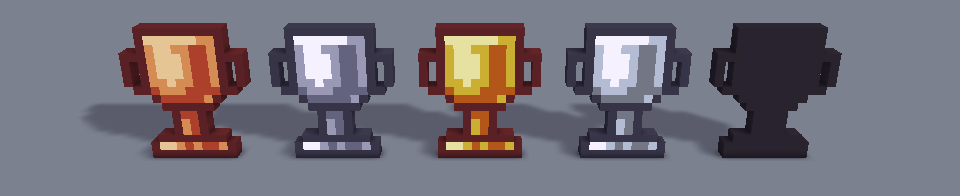 Trophy Cup 16x Icons Voxel Pack
