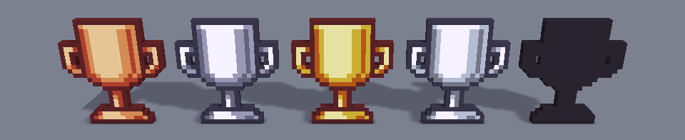 Trophy Cup 24x Icons Voxel Pack