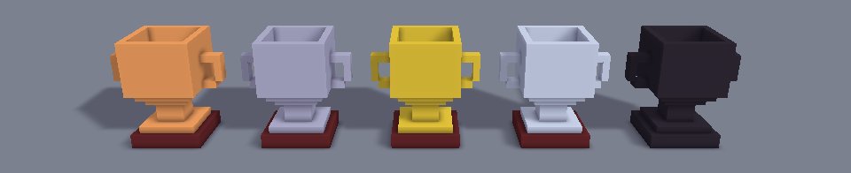 Trophy 16x Cups Voxel Pack